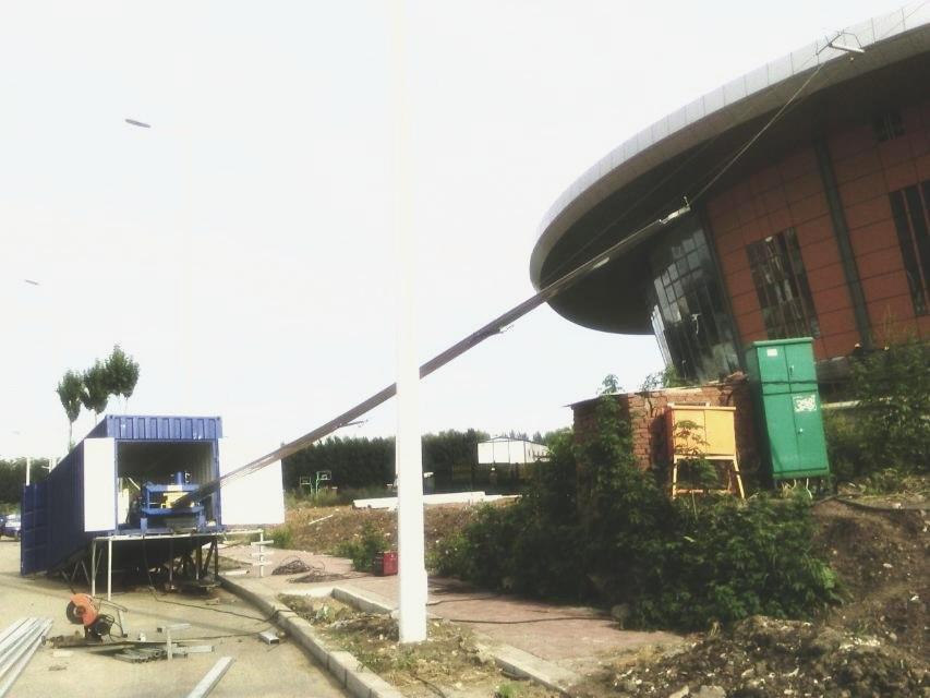 铝镁锰金属屋面板 现场加工 直接输送至屋顶